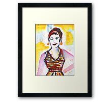 A Woman Goes To Carnival Framed Print
