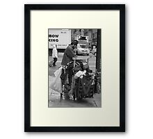 Trash Can Man Framed Print