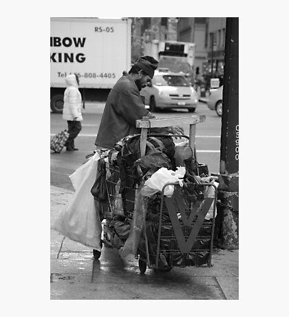 Trash Can Man Photographic Print