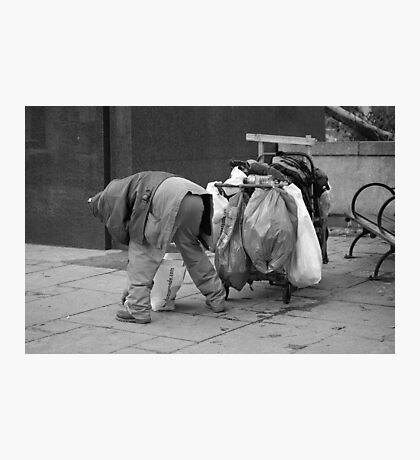 Trash Can Man 2 Photographic Print