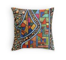 195 - PEBBLES DESIGN - DAVE EDWARDS - COLOURED PENCIL - 2007 Throw Pillow