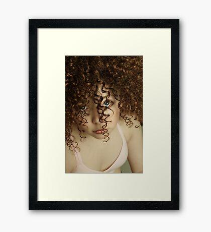 CURLIE Q: Framed Print