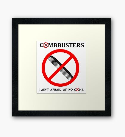 Combbusters - Ghostbusters Parody Framed Print