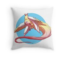 magical unicorn bird Throw Pillow