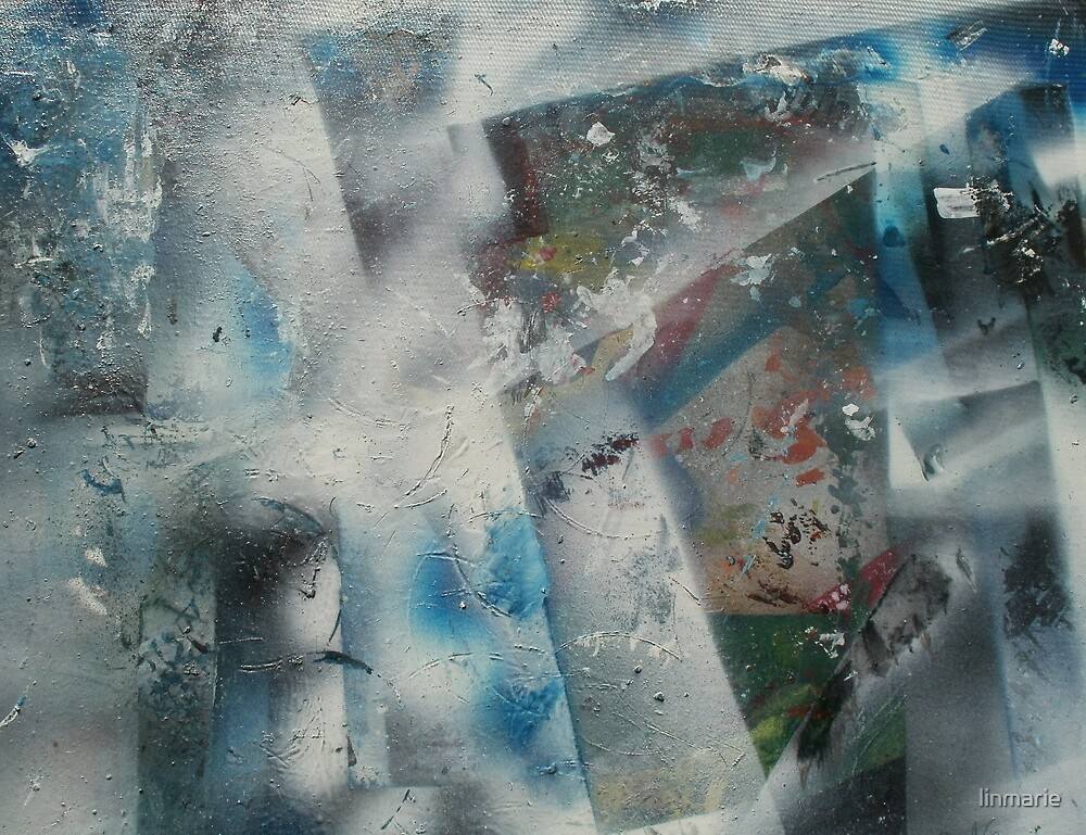 Discarded Art.. Blue Mood by linmarie