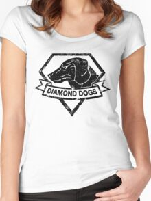 Diamond (Black) Women's Fitted Scoop T-Shirt