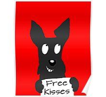 Scottie Dog 'Free Kisses' Poster