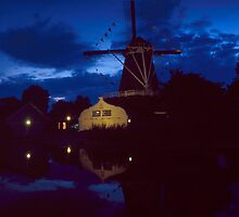 Lombok Mill at Night, Utrecht by Nederland Panorama
