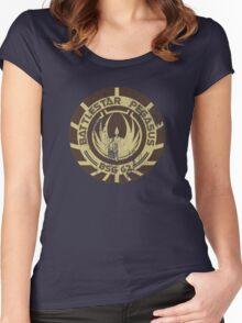 Battlestar Pegasus Women's Fitted Scoop T-Shirt