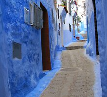 A street in Chefchaouen III by Jamie Alexander