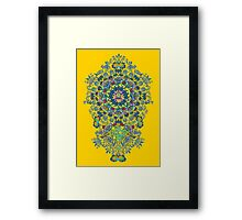 Yellow Porcelain Framed Print