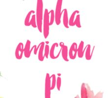 Alpha Omicron Pi Floral Sticker