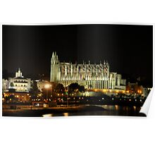 Palma De Mallorca`s Cathedral at night,,, Poster