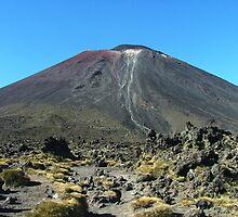 The volcano Ngauruhoe from Tongariro saddle by orkology