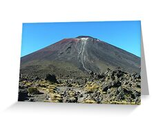 The volcano Ngauruhoe from Tongariro saddle Greeting Card
