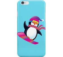 Cute Penguin Snowboarding iPhone Case/Skin