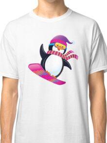 Cute Penguin Snowboarding Classic T-Shirt