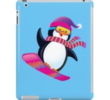Cute Penguin Snowboarding iPad Case/Skin