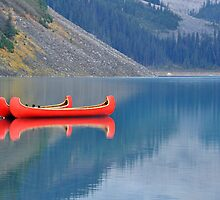 Red Canoes 2 by Kasia Nowak