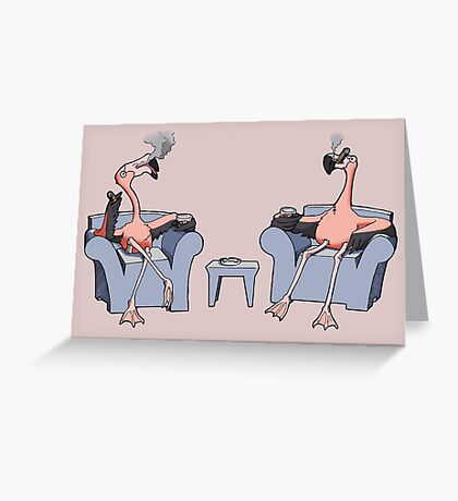 Boston Legal Flamingos  Greeting Card