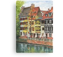 Strasbourg Canal Houses Canvas Print