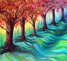 Flaming Treetops by Cathy Gilday