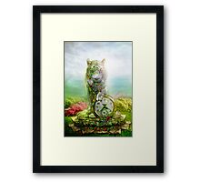 cat statue .... guard of the time Framed Print