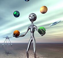 Juggling Act by Sandra Bauser Digital Art