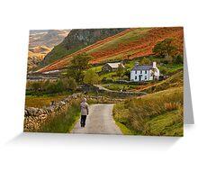 Nant Ffrancon, Snowdonia, Wales Greeting Card