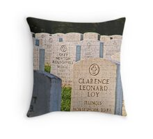 """""""Even in Death they stand at attention"""" Throw Pillow"""