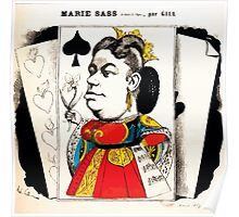André Gill Marie Sass as Elisabeth in Don Carlos cartoon Gallica15 Poster