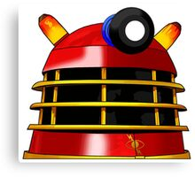 Red and Gold Dalek Canvas Print