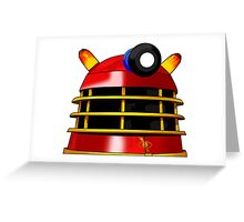 Red and Gold Dalek Greeting Card