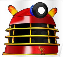 Red and Gold Dalek Poster