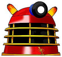 Red and Gold Dalek Photographic Print