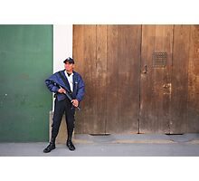 Bank guard Photographic Print