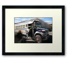Chicken Bus Framed Print