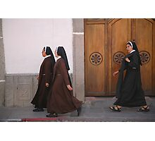 Nuns on the march Photographic Print