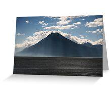 Lago Atitlan Volcano Greeting Card