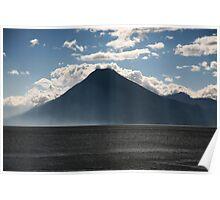 Lago Atitlan Volcano Poster
