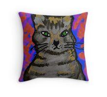 Lobo Kitty Throw Pillow