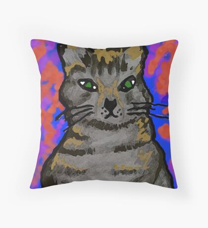 Lobo Kitty Throw Pillow