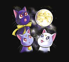 Three Moon Cats Womens Fitted T-Shirt