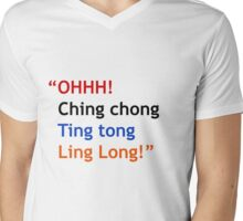 Ching chong! Mens V-Neck T-Shirt