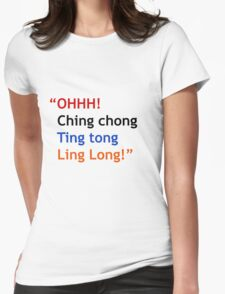 Ching chong! Womens Fitted T-Shirt