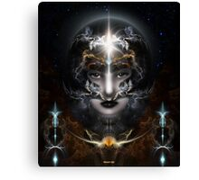 Goddess Of The Black Moon Canvas Print