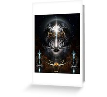 Goddess Of The Black Moon Greeting Card