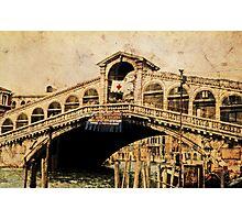 Rialto Briidge - Venice 1968 Photographic Print