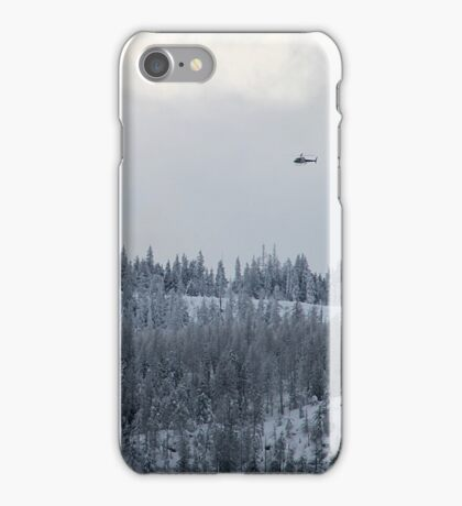Snow and Helicopters iPhone Case/Skin