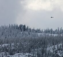 Snow and Helicopters by Alexis Garnier